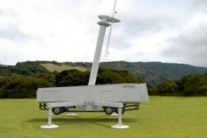 Portable Power Center — мобильный ветряной электрогенератор, умещающийся в автомобильном прицепе