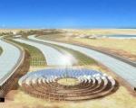 Солнечные элементы (солнечные батареи) в Сахаре. Солнечная электростанция в пустыне.